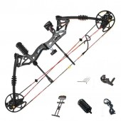 New compound bow hunting archery bow shooting target 30-60lbs RH Black KIT-A
