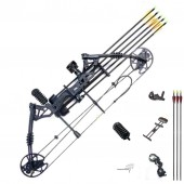 New compound bow hunting archery bow shooting target 30-60lbs RH Black KIT-B