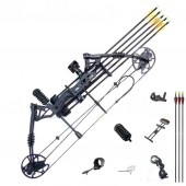 New compound bow hunting archery bow shooting target 30-60lbs RH Black KIT-C
