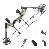 New compound bow hunting archery bow shooting target 30-60lbs RH Camo KIT-A