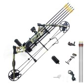 New compound bow hunting archery bow shooting target 30-60lbs RH Camo KIT-B
