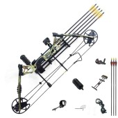 New compound bow hunting archery bow shooting target 30-60lbs RH Camo KIT-C
