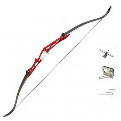 Recurve Bow Alloy Riser Takedown Target Shooting Beginner Bow RED