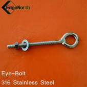 Eye Bolt - 316 Stainless Steel For Shade Sail ,Tent Boat Camping Outdoor 8mm