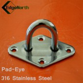 Pad Eye - 316 Stainless Steel For Shade Sail ,Tent Boat Camping Outdoor 8mm